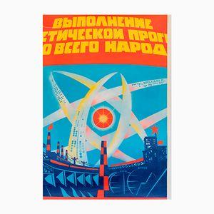 Affiche de Propagande Puissance Atomique, 1970s