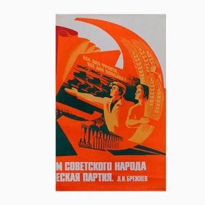 Affiche de Propagande Travailleurs de la Puissance Atomique, 1979