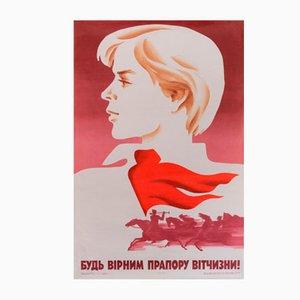 Kommunistisches Propaganda-Plakat, 1985