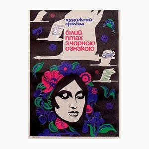 Affiche de Film Soviétique Swan Girl, 1970s