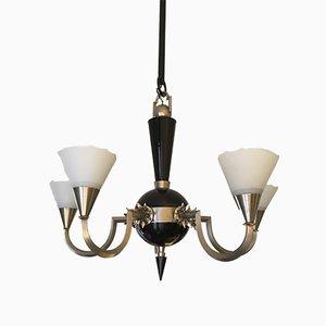 Lámpara de araña alemana Art Déco, años 30