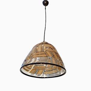Lámpara de techo italiana Mid-Century de cristal de Murano de Barovier & Toso, años 70