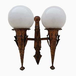 Vergoldete Lampe im Mid-Century-Stil