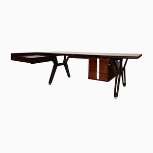 Vintage Rosewood Desk by Ico Parisi for MIM