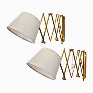 Mid-Century Norwegian Wall Lamps from Astra Lamper, 1950s, Set of 2