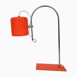 Lámpara de escritorio holandesa Mid-Century en naranja, años 60