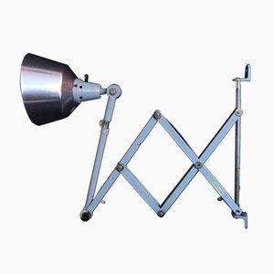 Mid-Century Silver Scissor Lamp from Midgard