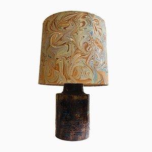 Lampada Mid-Century con base in ceramica