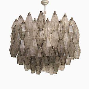 Lámpara de araña Poliedri Mid-Century de cristal de Murano de Carlo Scarpa para Venini, años 50