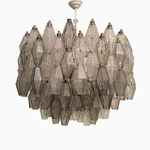 Mid-Century Murano Glass Poliedri Chandelier by Carlo Scarpa for Venini, 1950s