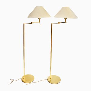 Norwegische Vintage Swing Stehlampen von Høvik Verk, 1970er, 2er Set
