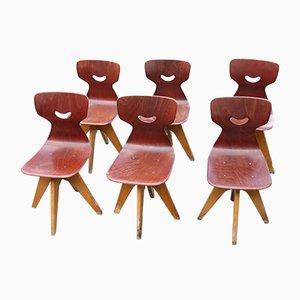 Chaises d'Ecole de Pagholz Flötotto, 1930s, Set de 6