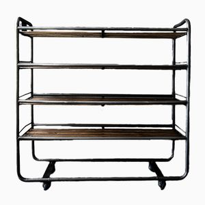 Vintage Industrial Serving Trolley, 1950s