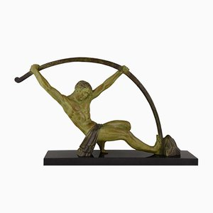 Art Deco L'Age Du Bronze Sculpture by Demetre H. Chiparus, 1930s