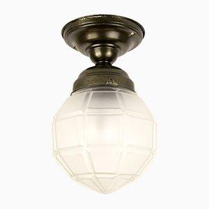 Geometrische deutsche Mid-Century Deckenlampe, 1950er