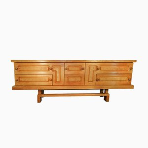 Vintage Oak Sideboard by Guillerme et Chambron for Votre Maison, 1970s