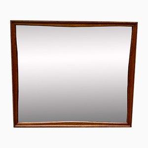 Specchio a muro rettangolare vintage in teak