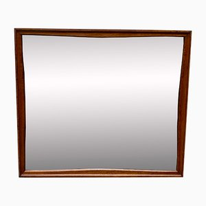 Vintage Teak Rectangular Wall Mirror