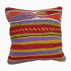 Kelim Kissenbezug aus Teppichstoff mit Stammesdruck von Vintage Pillow Store Contemporary