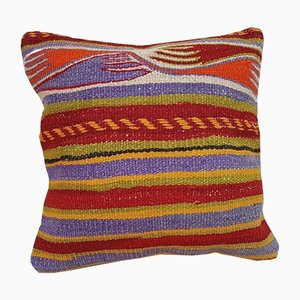 Tribal Print Kilim Tapestry Pillow Cover from Vintage Pillow Store Contemporary