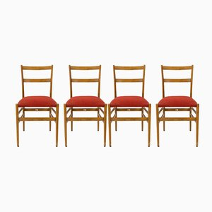 Chaises Superleggera par Gio Ponti pour Cassina, 1950s, Set de 4