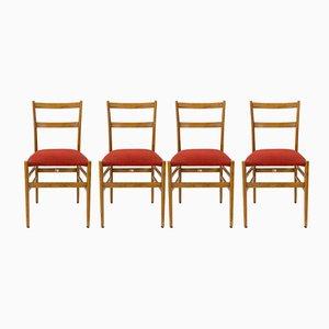 Superleggera Stühle von Gio Ponti für Cassina, 1950er, 4er Set