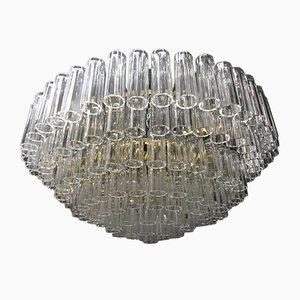 Großer Mid-Century Kronleuchter aus Kristallglas