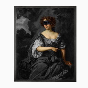 Blindfold -1 Framed Printed Canvas by Young & Battaglia for Mineheart, 2019