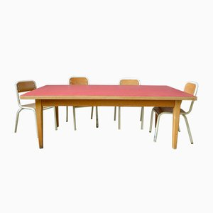 Tavolo da bambino vintage con sedia