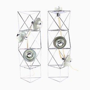 Lámpara de pie modular vintage de Felice Ragazzo para Guzzini, años 70