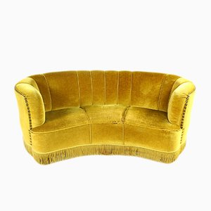 Danish Banana Sofa, 1940s