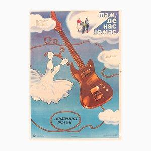 Soviet Union Guitar Wedding Movie Poster, 1986