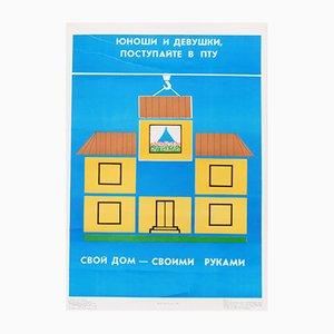 Affiche de Propagande Communiste sur la Maison, 1989