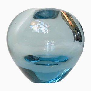 Hellblaue Vintage Ball Vase von Per Lütken für Holmegaard, 1960er