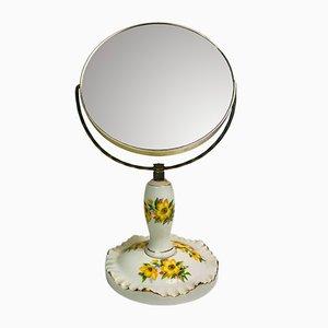 Spiegel mit Porzellangestell, 1950er