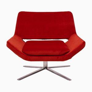 Metropolitan Orange Velvet Armchair by Jeffrey Bernett for B&B Italia, 2002