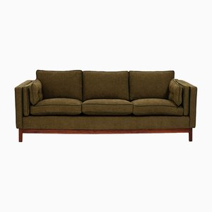 Mid-Century Olive Green 3-Seater Sofa by Folke Ohlsson for Dux