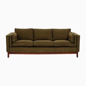 Olivgrünes Mid-Century 3-Sitzer Sofa von Folke Ohlsson für Dux