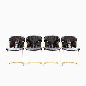 Italienische Vintage Stühle von Willy Rizzo für Cidue, 1970er, 4er Set