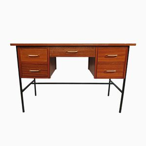 Mahogany & Metal Desk, 1970s