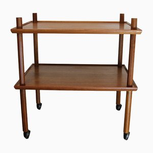 Vintage Danish Teak Serving Bar Cart, 1960s