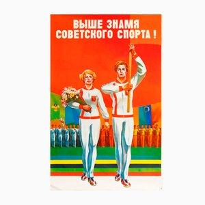 Póster comunista olímpico de la URSS, 1978