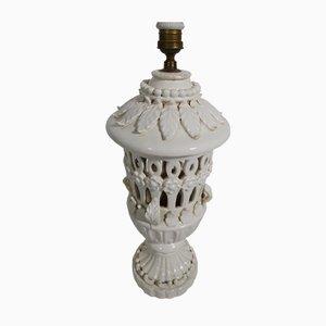Weiße Vintage Keramiklampe