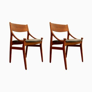 Vintage Danish Teak Chairs by Vestervig Eriksen for Brdr. Tromborgs Eftf., Set of 2
