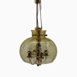 Lámpara colgante vintage de Kamnický Šenov, años 40