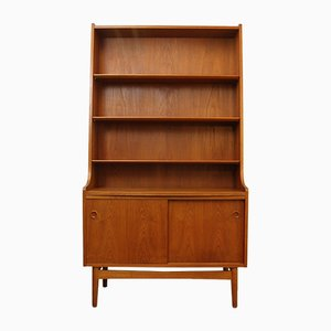 Vintage Danish High Teak Secretarie & Bookcase by Johannes Sorth for Bornholms Møbelfabrik, 1964