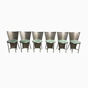 Vintage Esszimmerstühle von Frans van Praet für Belgo Chrom, 1992, 6er Set