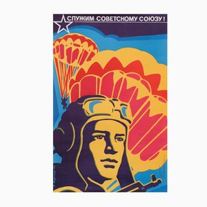 USSR Political Military Propaganda Poster, 1976