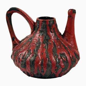 Vintage Rubin Teekanne von Ceramano, 1960er