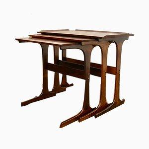 Tavolini ad incastro vintage in palissandro, Danimarca